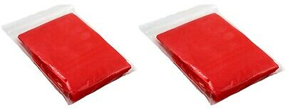 2 X Adults Red Emergency Waterproof Ponchos Rain Capes Festivals Camping