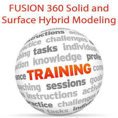 Advanced FUSION 360 Solid Surface Hybrid Modeling - Video Training Tutorial DVD