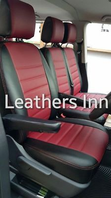 VW TRANSPORTER T5 (2004-2015) Single & Double Leatherette Seat Covers Discounted