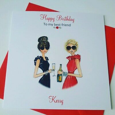 Admirable Handmade Personalised Birthday Card Friend Best Friends Sister Funny Birthday Cards Online Fluifree Goldxyz