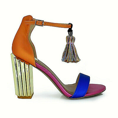 newest collection 1549c 09fc2 SANDALI DONNA EXÈ sandaletti multicolor tacco alto scarpe ladies sandals  Mona930