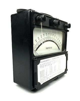 Sangamo Weston Bakelite Volt Meter / Electric Gauge Equipment / Vintage 1950s