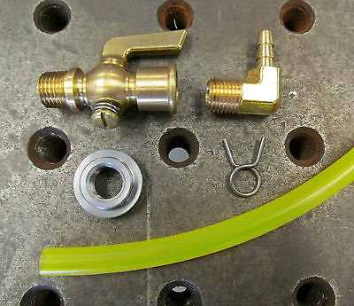 """Brass Faucet Petcock 3//8/"""" NPT Stop Cock with BLACK Handle Chopper Bobber Harley"""