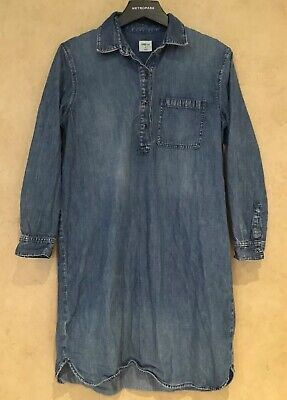 4474865ce6ce Gap Womens Size Medium Shirt Dress Denim Chambray Pocket Round Hem Shift  Tunic