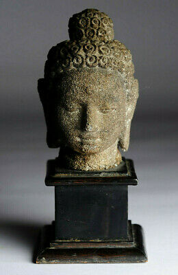 Alter Buddha Kopf Stein Java Indonesien antique alt antik