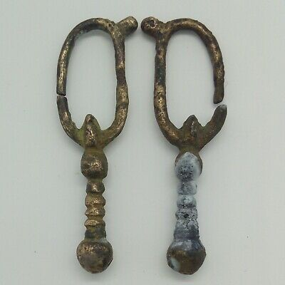 Silver Viking Earrings Early Medieval period 800-1000AD.