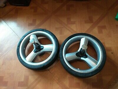 iCandy Peach 1 & 2 Pair of (2x) Silver Rear Back Wheels Tyres, Fully Working