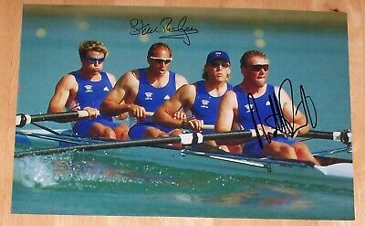 Steve Redgrave & Matt Pinsent Rowing Olympics Hand Signed Autograph 12X8 Photo