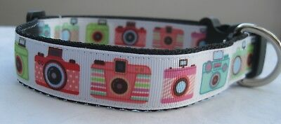 Camera dog collar or lead handmade grooming puppy selfie lover funky cute