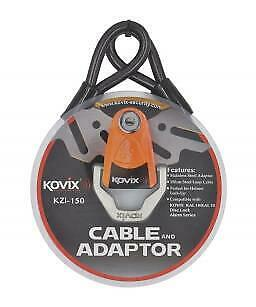 Kovix Security KZI-150 Cable and Adaptor 150cm Steel Loop Motorcycle Cable