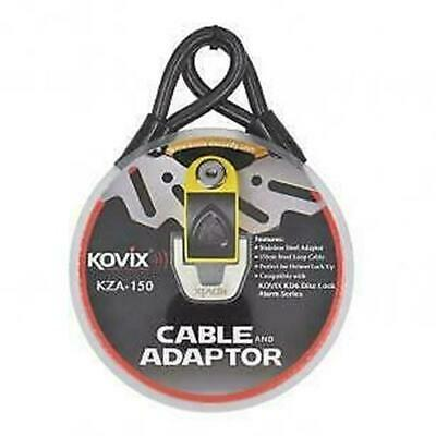 Kovix Security KZA-150 Cable and Adaptor 150cm Steel Loop Motorcycle Cable