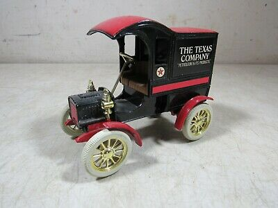 Vintage 1990's Ertl Diecast Texaco Gas & Oil 1905 Ford Delivery Truck Bank USA
