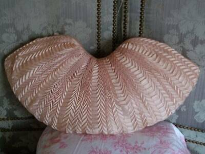 "Authentic ""Paris""  Pink Silk Ruched Pleated Cushion ""Anna Isabelle """