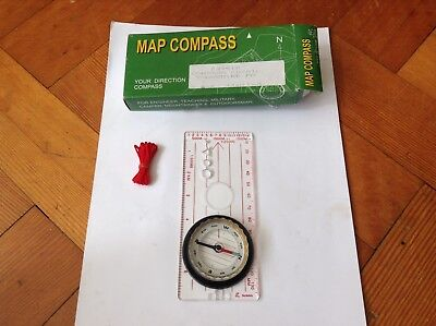 Baseplate Map Compass Cd-701L New In Box Engineering Military Orienteering