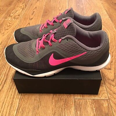 buy popular 949d7 aab8b Nike Womens Flex Trainer 6 Shoes Grey Pink Blast White 831217-003 Size 8