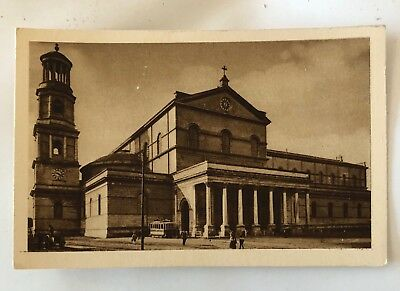 """vintage postcard """"Papal Basilica of St Paul Outside the Walls"""" Rome Italy unused"""