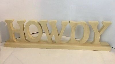 Howdy Welcome Sign Home Decor Wooden Letters Shabby Chic