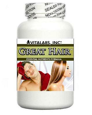 3x Strong Hair Growth Tablets Thicker Thinning Pills Prevents Splits Baldness