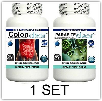 2 Parasite Cleanser Pills Detox Colon Liver Cleanse Flush Clean Digestive System