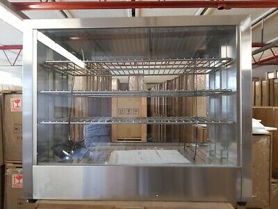 B New Commercial Hot display case Pie warmer shelves Countertop