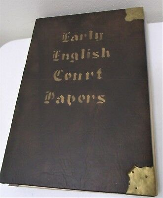 Antique 17th Century Early English Court 1679 & 1681 Papers Dated Signed Bounded