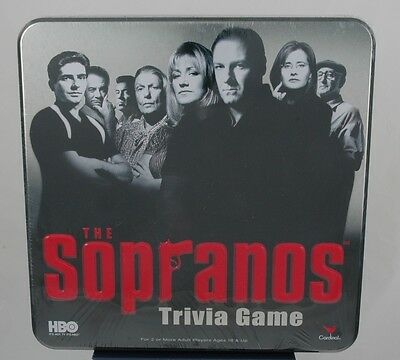 Cardinal Games HBO The SOPRANOS Trivia Game in Metal Collector Tin NEW SEALED