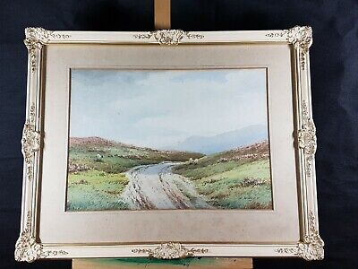 Country Road Sheeps Watercolor Signed A Willet ( Arthur Willett 1868-1951 ???? )