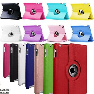 For Apple iPad 2nd, 3rd & 4th Gen 2017/2018 Air 2 9.7'' 360 Rotating Case Cover