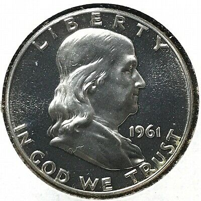 1961 50C (Proof) Franklin Half Dollar, CAMEO OBVERSE (49200)