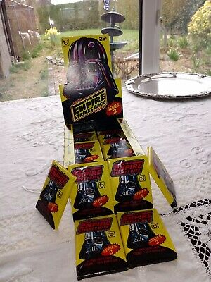 Topps 1980 Box 36 Sealed Wax Packs Star Wars Tesb Bubble Gum Cards Vintage Packs