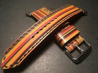 Handmade Up cycled Custom Paul Smith Apple watch strap For 42mm Watch