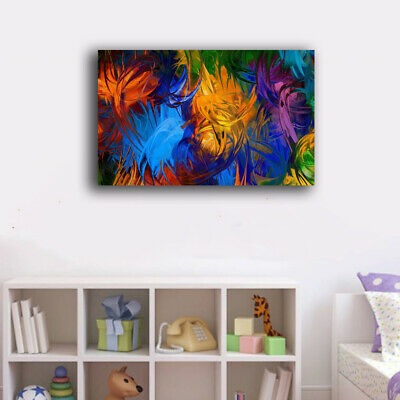 Framed Canvas Prints Stretched Abstract Color Wall Art Home Decor Painting New