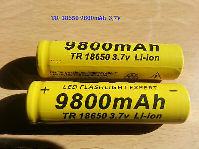 2x Protected 18650 9800mAhH3.7V Rechargeable Li-ion High Quality BARGAIN GTF
