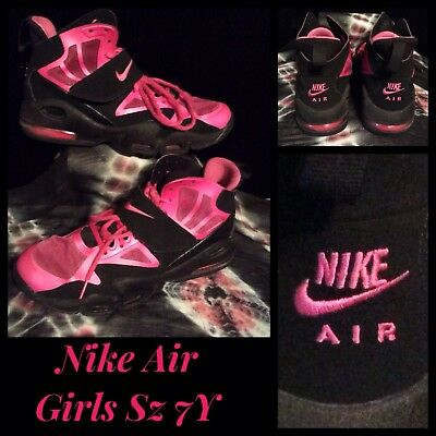 separation shoes 28ea9 05fd1 Nike Air Max Express Girls Black Desert Pink Athletic Basketball Shoes  Strap 7Y