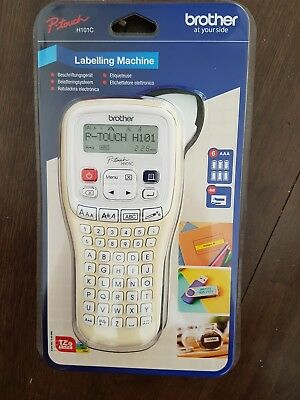 Brother Labelling Hand Held Machine Printer P-Touch PT-H101C  UK 20mm Label BNIP