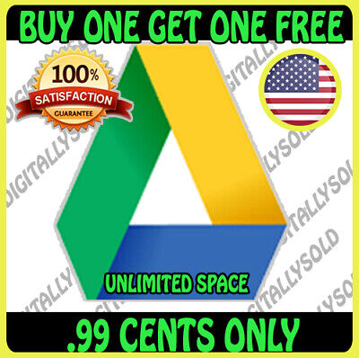 ☑️Google Drive Unlimited Storage On Existing Acc - Buy1 Free1