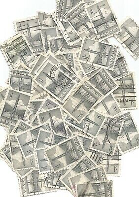 Canada $1 Totem Pole Sc#231 Stamp Lot Of 80X Used High Catalogue Value $96