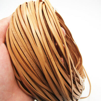 3mm Flat Cow Real Leather High Quality Finding Cord String Lace Rope 1 Meter