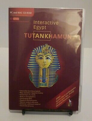 Interactive Egypt: Tutankhamun PC and Mac CD-ROM Educational History King Tut