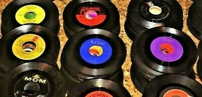 Lot 20 Country C&W 45rpm Vinyl Records JukeBox Variety 1950's 60's 70's