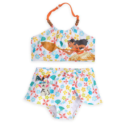 5//6,7//8,9//10 NEW Beautiful Disney Store Jasmine Swimsuit Deluxe 3 pc Aladdin 4