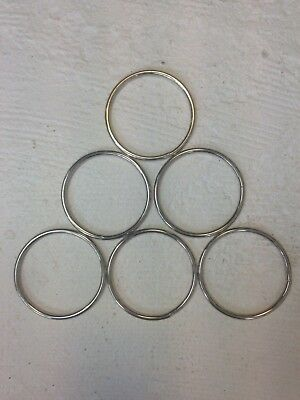 304 Stainless Steel Welded O Ring 65mm(inside) by 4mm webbing, hammock, craft..