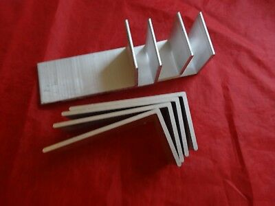 "2"" X 4"" Aluminum Angle 1/8"" Thick 1 3/4""  In Length (8 Pieces)"