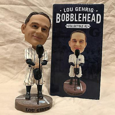"Lou Gehrig 2014 New York Yankees ""Luckiest Man"" Bobblehead Statue Figurine SGA"