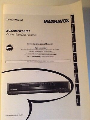 Magnavox ZC320MW8B DVD Recorder owners manual operating booklet