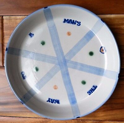 """M.A. Hadley Pie Plate THE WAY TO A MAN'S HEART 9.5"""" Out of Production SIGNED"""