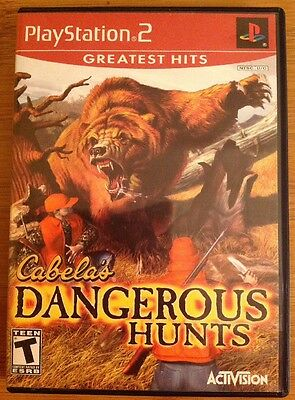 PlayStation 2 Greatest Hits Cabela's Dangerous Hunts TEEN