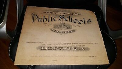 Diploma From 1911 West Chelsea Public Schools In Norwich Connecticut Levine