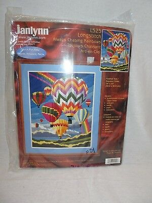 JANLYNN Longstitch Kit Always Chasing Rainbows LS25 Hot Air Balloons 2000