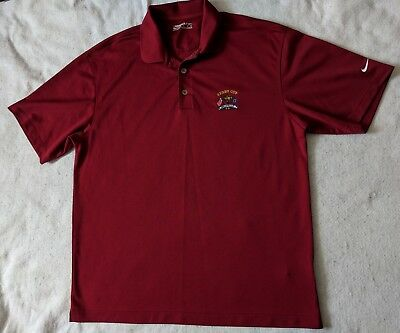 d78d8d83 NIKE GOLF FITDRY RYDER CUP VALHALLA LARGE GOLF SHIRT POLO MENS Maroon